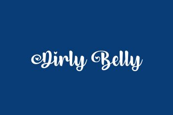 Dirly Belly Free Font