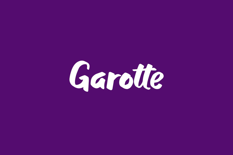 Garotte Free Font
