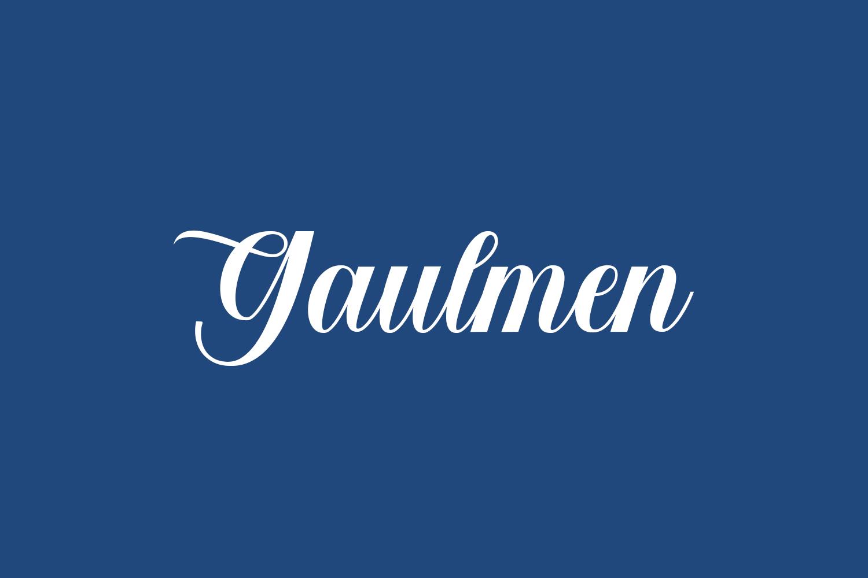 Gaulmen Free Font
