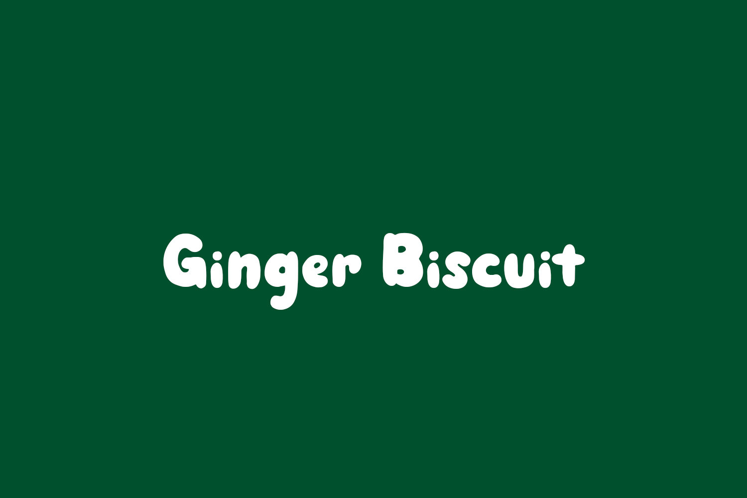 Ginger Biscuit Free Font