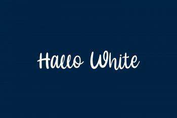 Hallo White Free Font