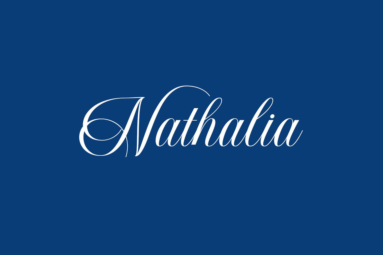 Nathalia Free Font