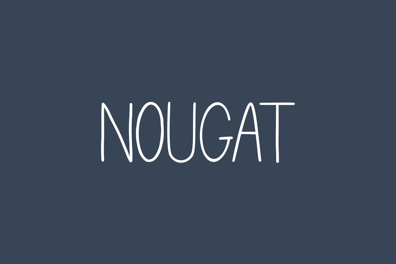 Nougat Free Font