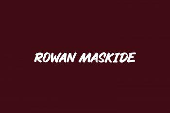 Rowan Maskide Free Font