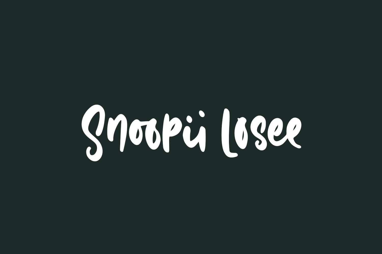 Snoopii Losee Free Font