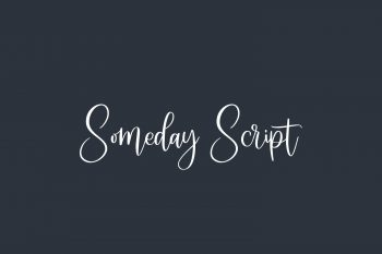 Someday Script Free Font