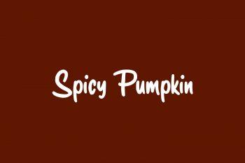 Spicy Pumpkin Free Font