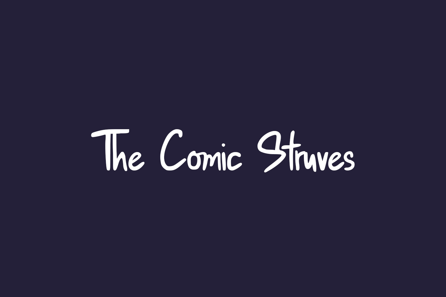 The Comic Struves Free Font