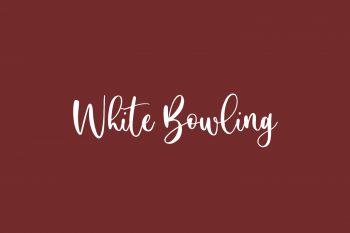 White Bowling Free Font