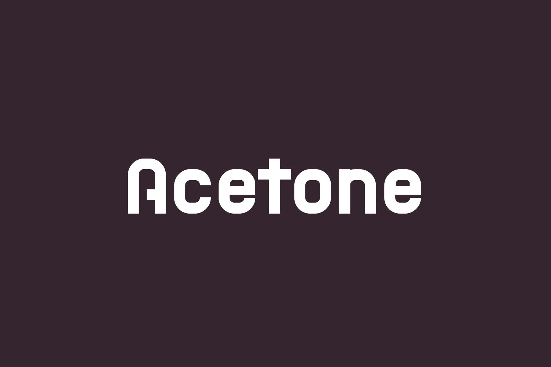 Acetone Free Font