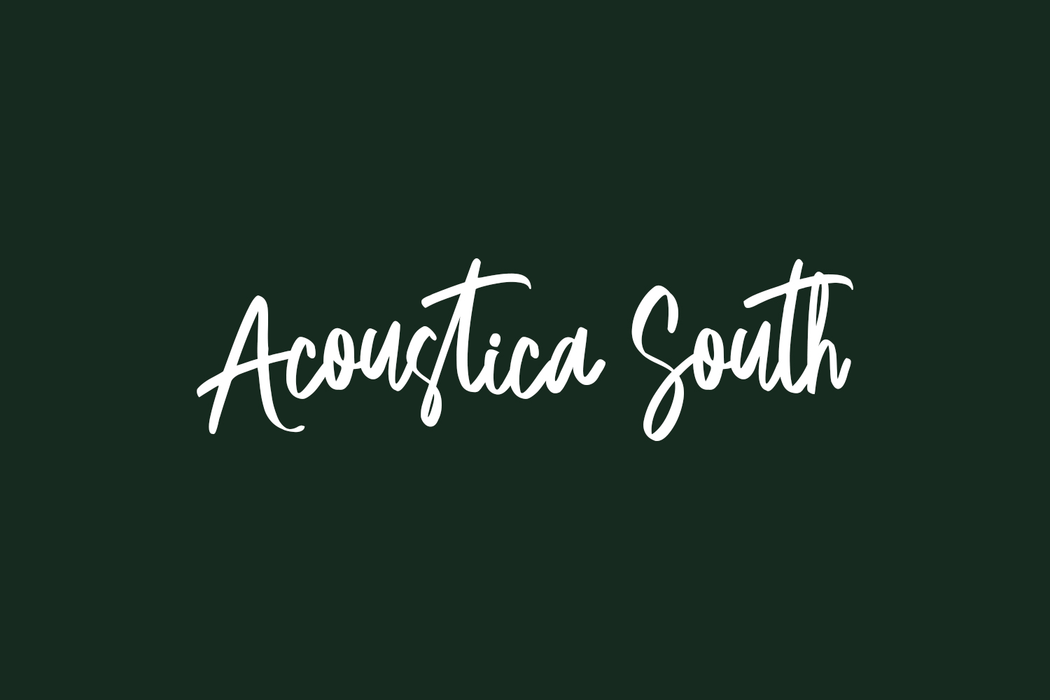 Acoustica South Free Font