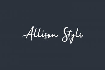 Allison Style Free Font