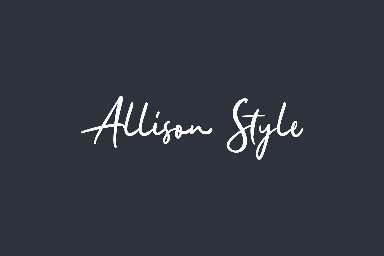 Allison Style Free Font