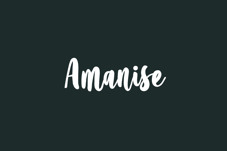 Amanise Free Font