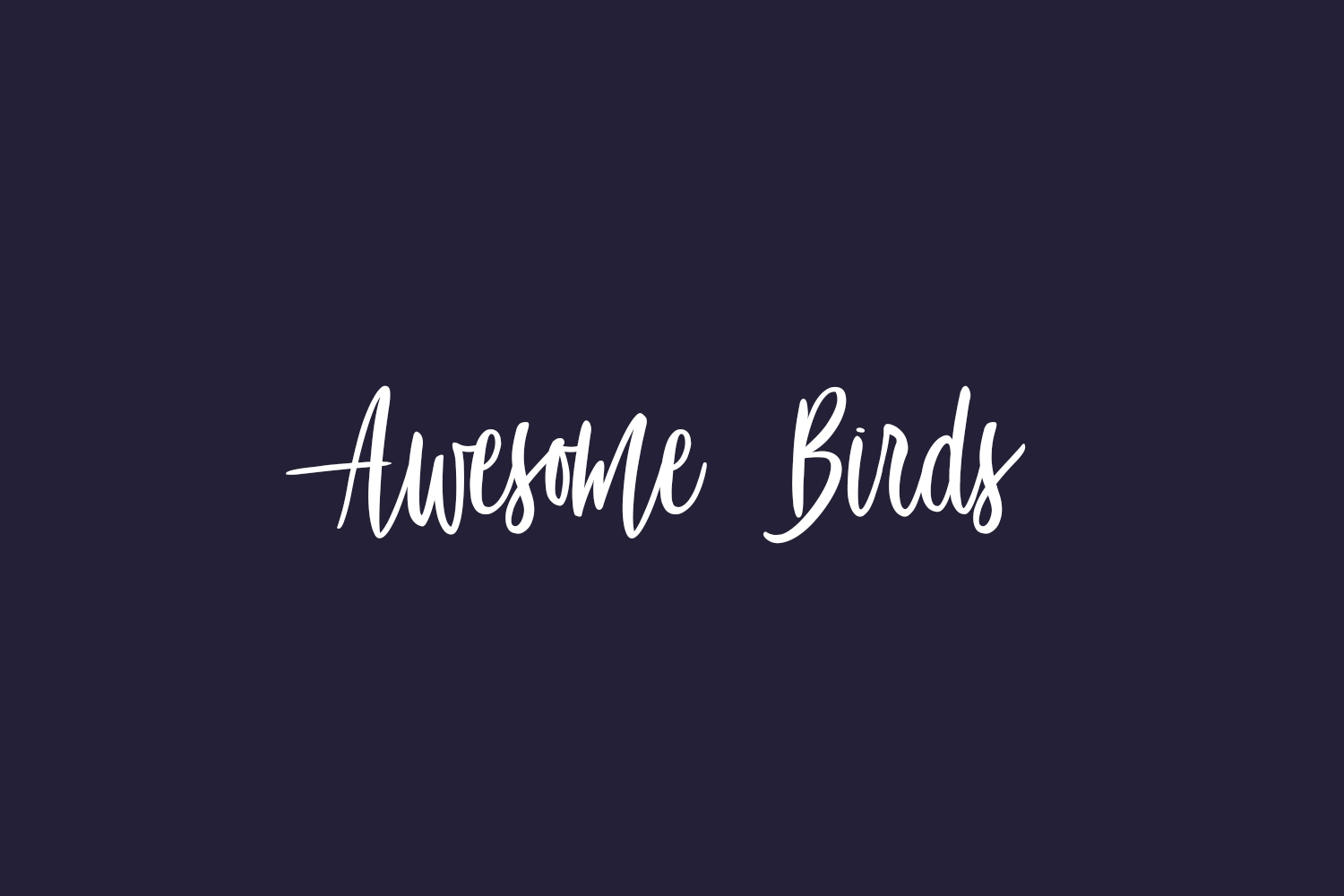 Awesome Birds Free Font