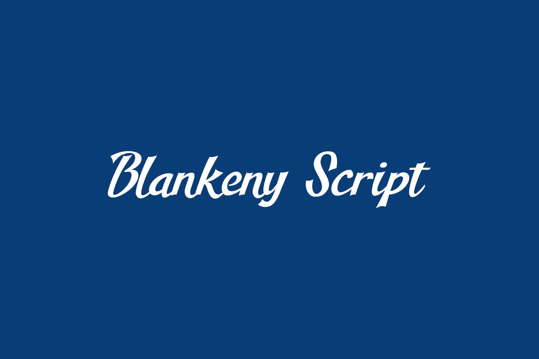 Blankeny Script Free Font