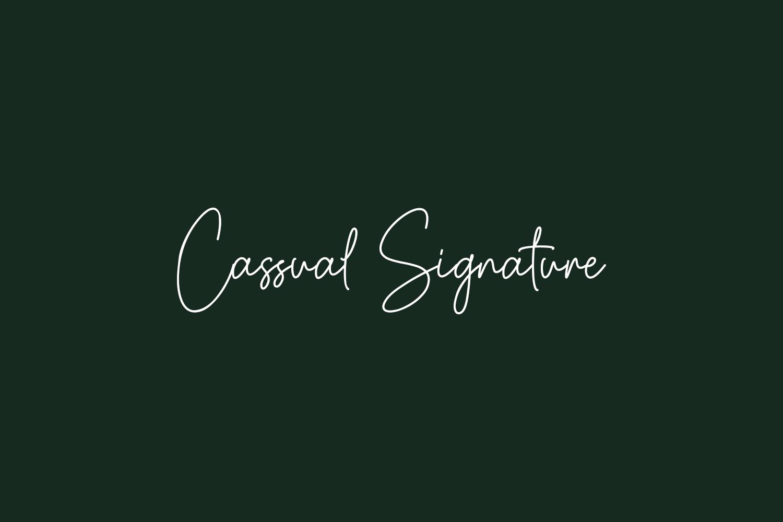 Cassual Signature Free Font