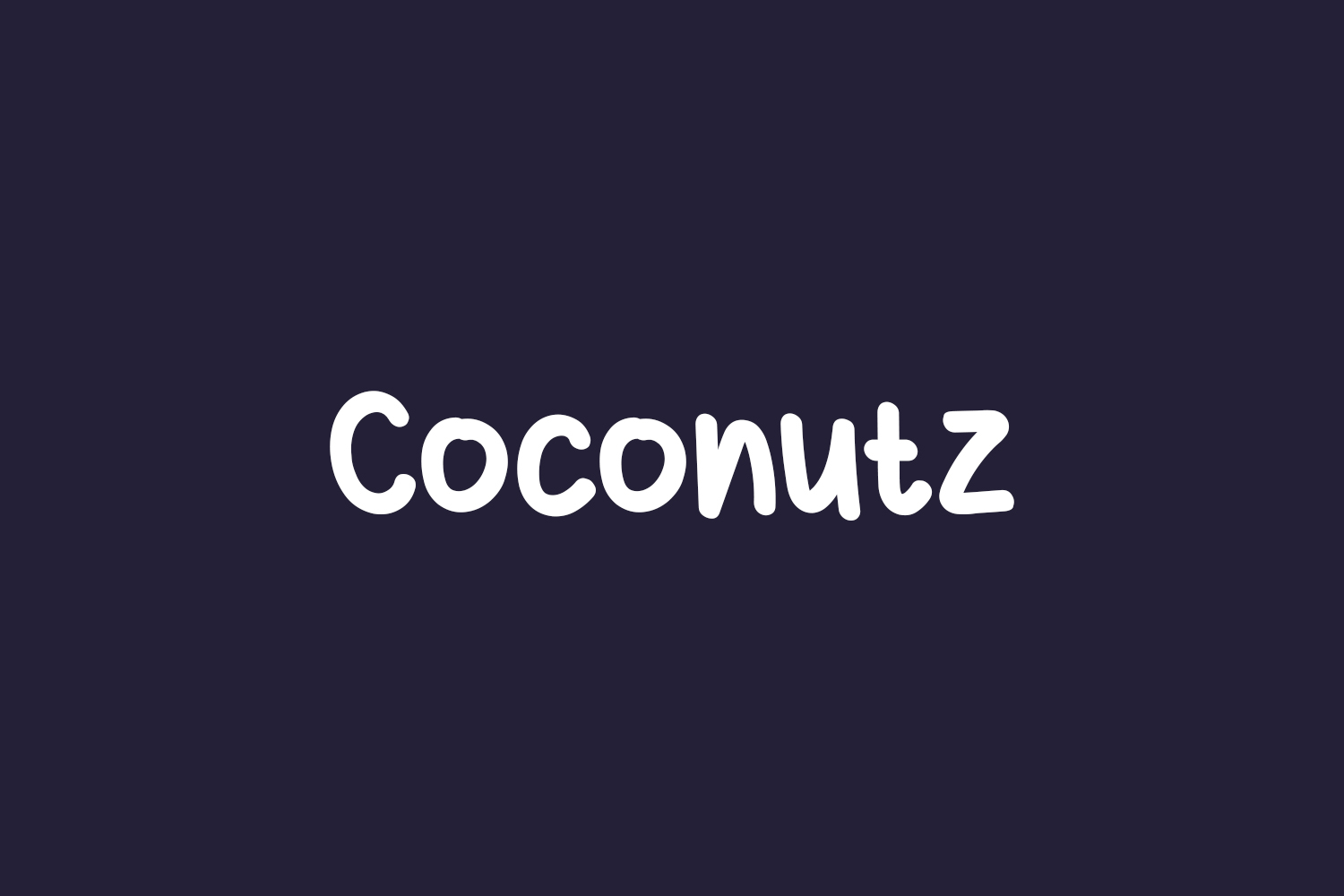 Coconutz Free Font