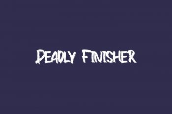 Deadly Finisher Free Font