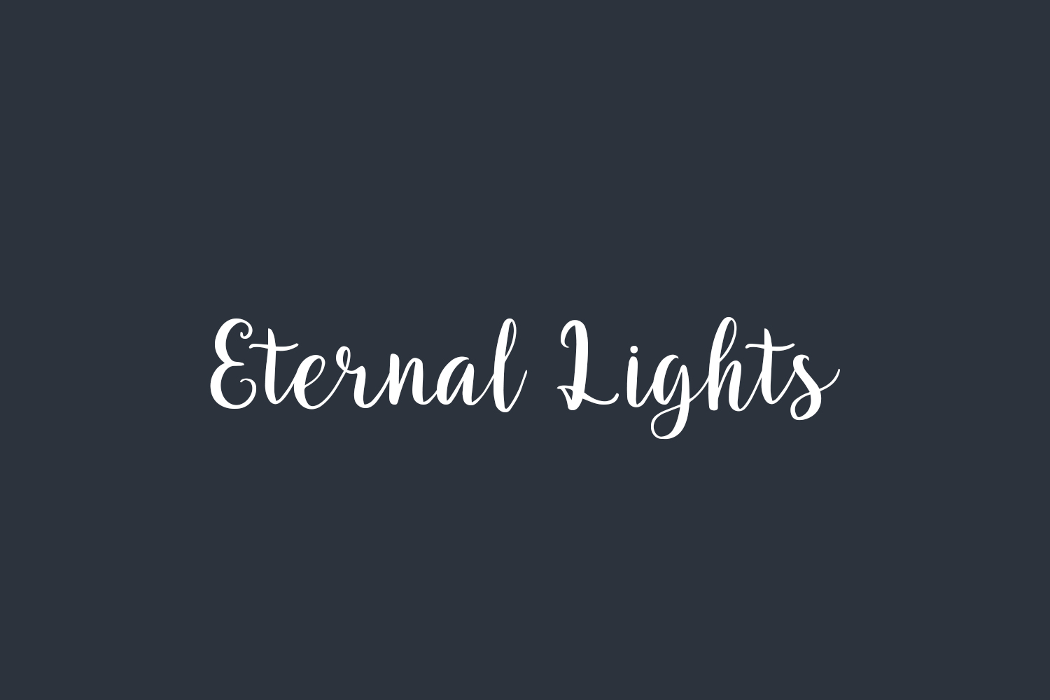 Eternal Lights Free Font