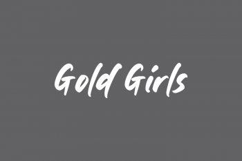 Gold Girls Free Font
