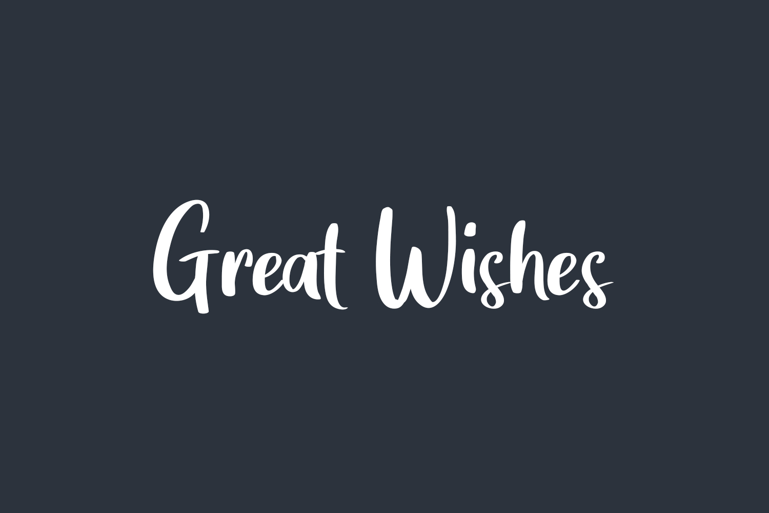 Great Wishes Free Font