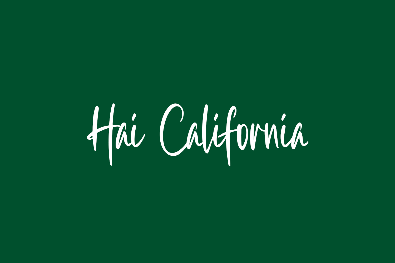 Hai California Free Font