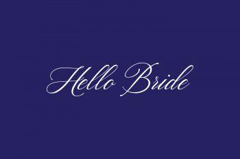 Hello Bride Free Font