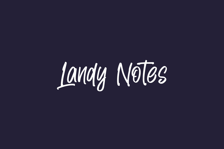 Landy Notes Free Font