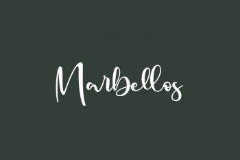 Marbellos Free Font