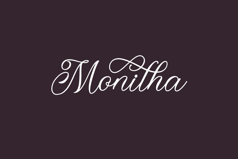 Monitha Free Font
