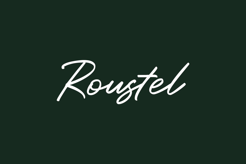 Roustel Free Font
