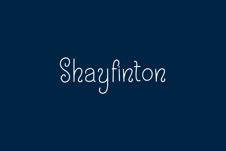Shayfinton Free Font