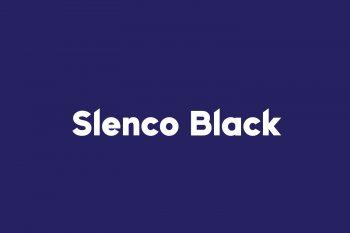 Slenco Black Free Font