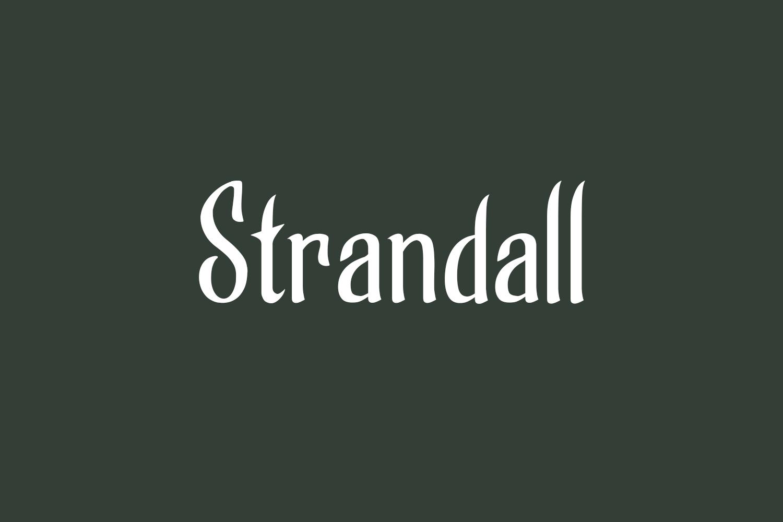 Strandall Free Font