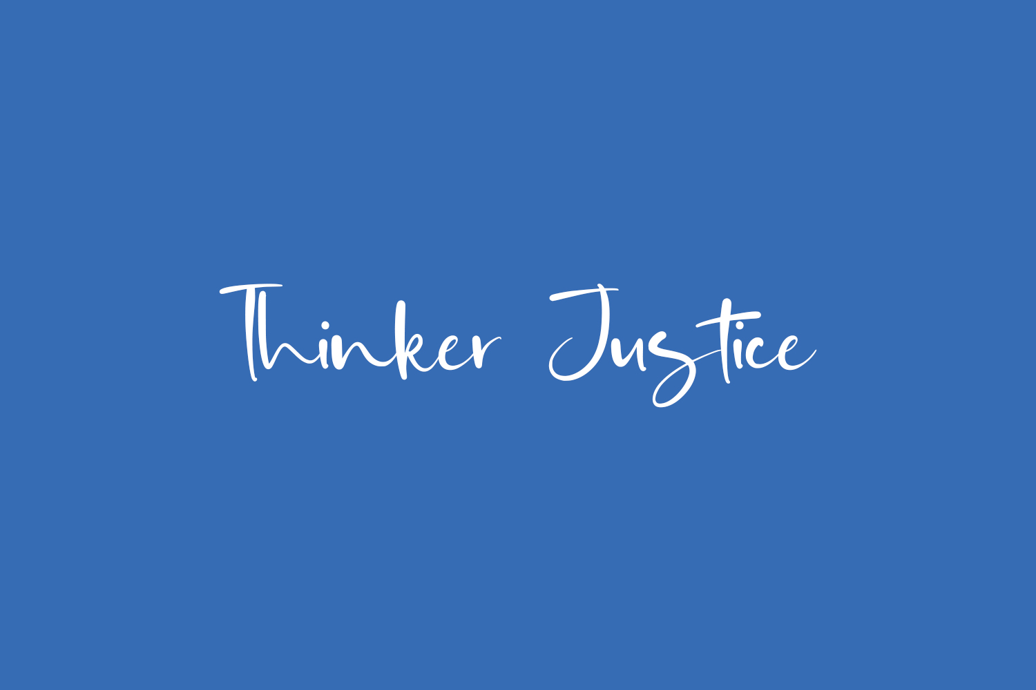 Thinker Justice Free Font