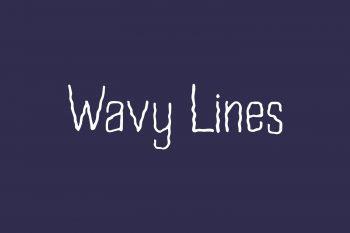 Wavy Lines Free Font