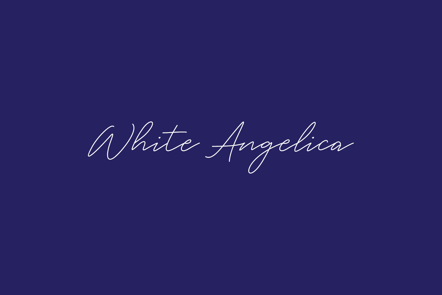 White Angelica Free Font