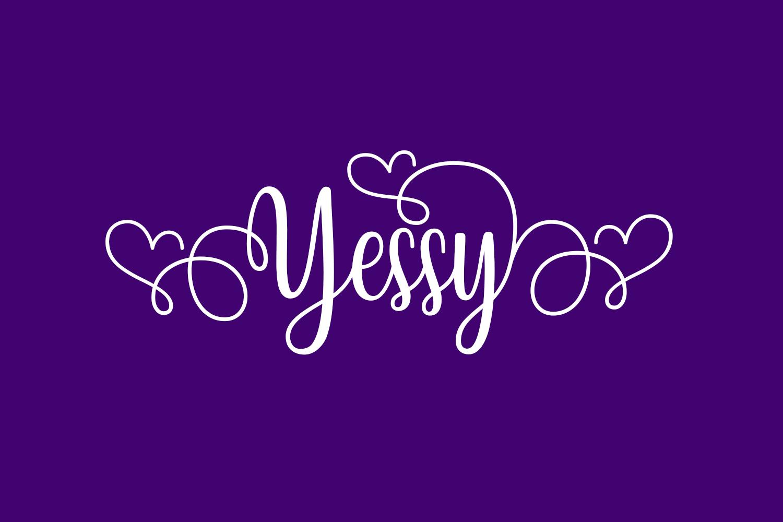 Yessy Free Font