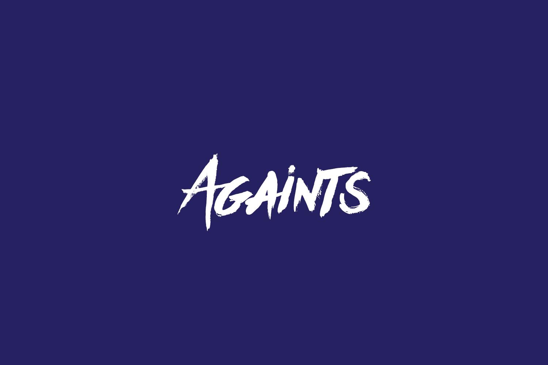 Againts Free Font