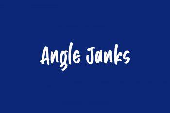 Angle Janks Free Font