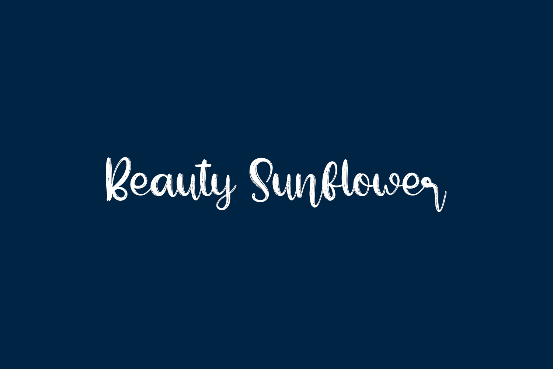Beauty Sunflower Free Font