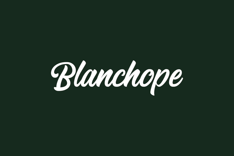 Blanchope Free Font