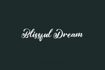 Blissful Dream Free Font