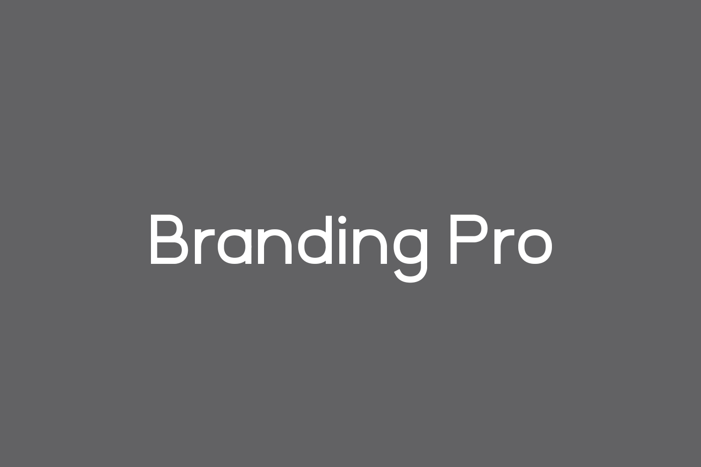 Branding Pro Free Font