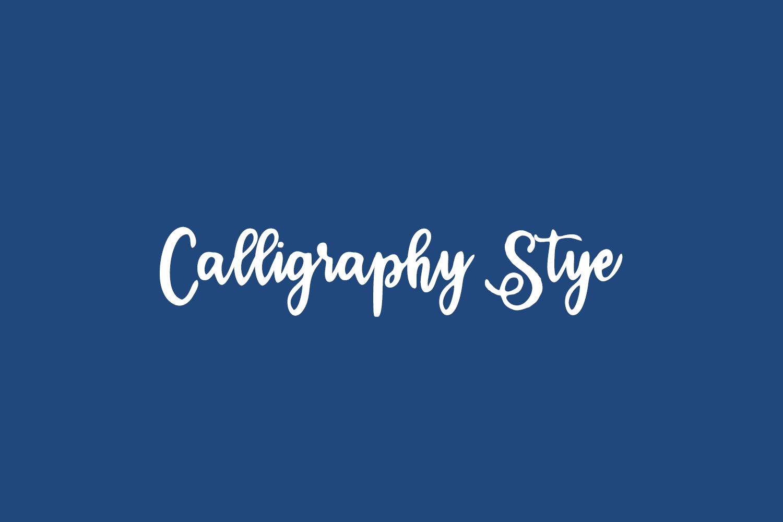 Calligraphy Stye Free Font