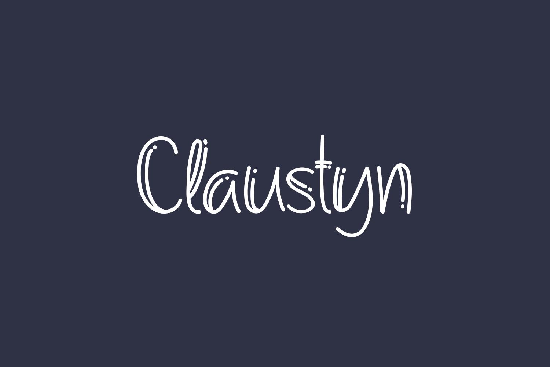 Claustyn Free Font