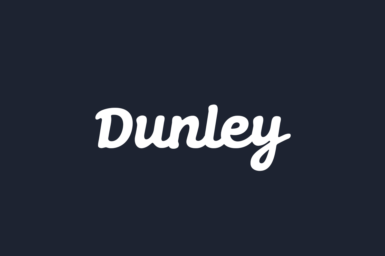 Dunley Free Font