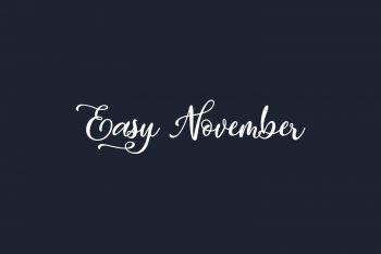 Easy November Free Font