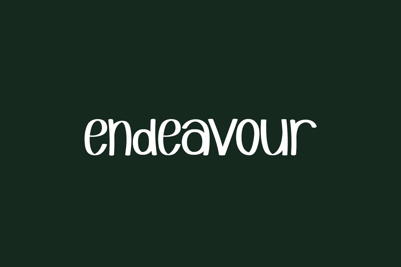 Endeavour Free Font